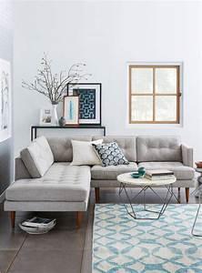 deco moderne pour le salon 85 idees avec canape gris With tapis de sol avec canape avec repose jambes