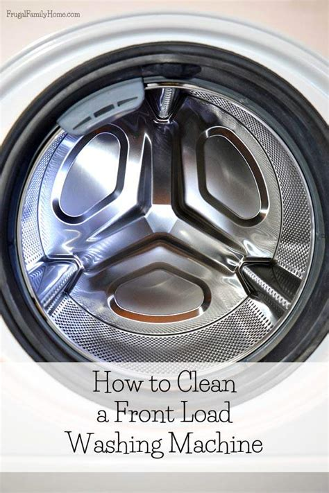 how to clean a front load washer how to clean a front load washing machine
