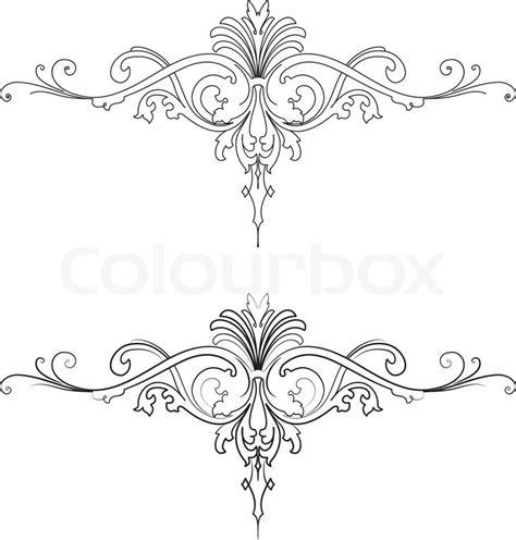 baroque design element traditional style  curves