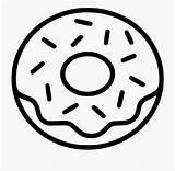 Donut Donuts Coloring Doughnut Clipart Svg Sprinkles Line Food Printable Sprinkle Drawing Icon  Frosting Websites Apps Kleurplaat Vector Pages sketch template