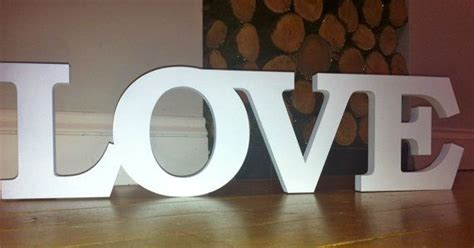 extra large love white wooden letters letters wedding