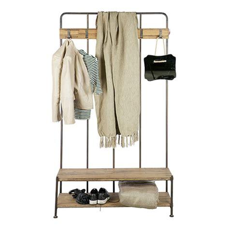 bureau avec retour ikea porte manteau vestiaire d 39 entrée en métal et bois giro