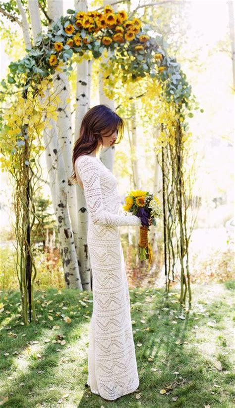 Sunflower Wedding Ceremony Arch Sunflower Wedding