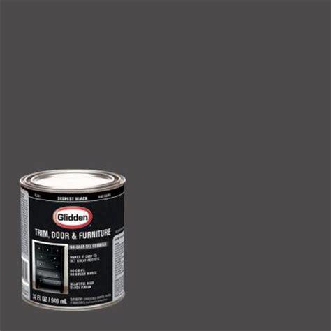 glidden trim and door 1 qt deepest black gloss interior
