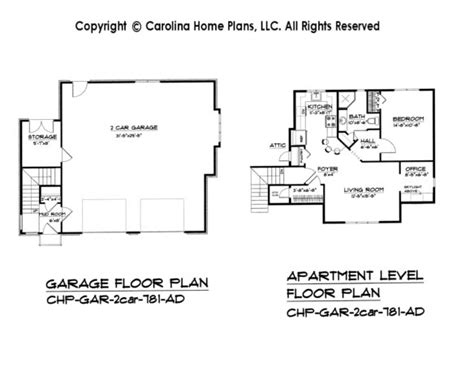 garage apartment floor plans gallery for gt 2 car garage apartment plans