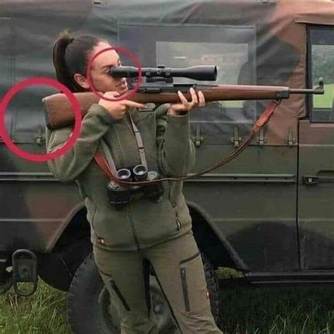 At least she has good trigger discipline