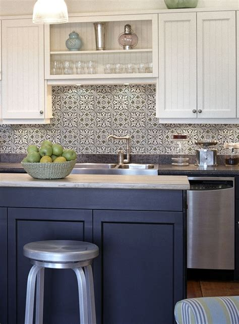 white tile backsplash blue and white kitchen backsplash tiles fanabis