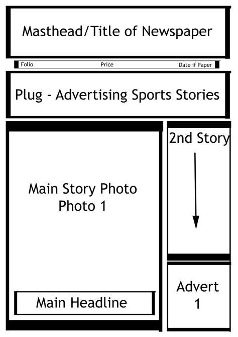 media studies blog newspaper design layout updated