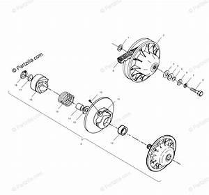 Polaris Atv 1999 Oem Parts Diagram For Driven Clutch