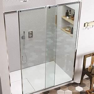paroi de douche espace aubade With porte de douche coulissante avec paroi en brique de verre salle de bain