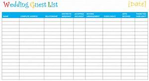 7 free wedding guest list templates and managers With wedding invitations guest list templates