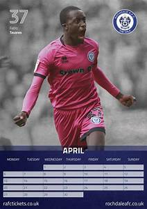Month Calendars 2020 Rochdale Afc A3 Calendar 2020 At Calendar Club