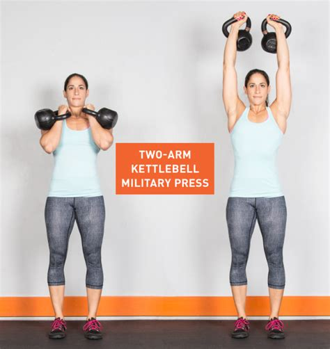 kettlebell arm press exercises military kettlebells greatist workout exercise workouts ass kb single kick jerk split body moves handed fitness