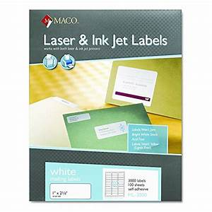 maco ml3000 white laser inkjet shipping address labels With maco laser and inkjet labels template