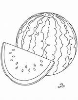 Watermelon Coloring Fruit Sheet Pages sketch template