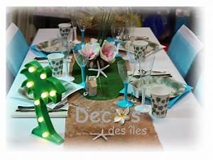 Deco Table Tropical : d coration de table pour un anniversaire tropical ~ Teatrodelosmanantiales.com Idées de Décoration