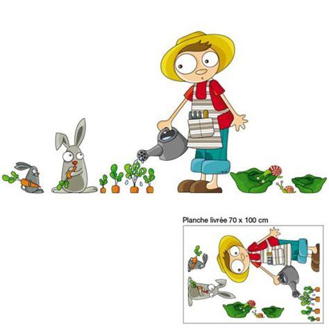 chambre contre service sticker enfants arthur le jardinier acte deco deco