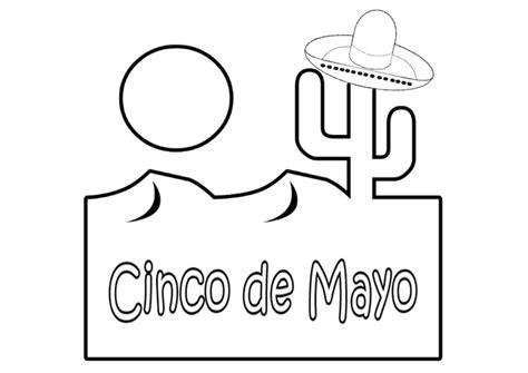 Dibujo para colorear Cinco de mayo - Dibujos Para Imprimir ...