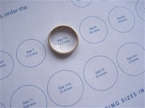 ring size template guide to jewelry sizes my jewelry sizing sheet diamonds in the library