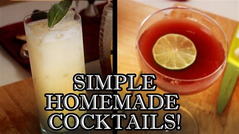 easy cocktail recipes to make at home behind the drink youtube