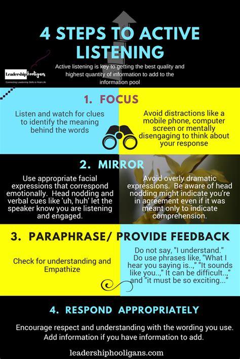 active listening  key leadership skill good listening