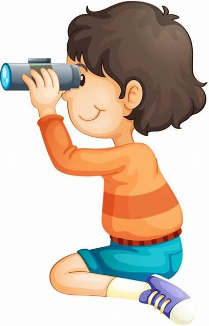 Binoculars Clipart Binocular Child Clip Exploring Kid
