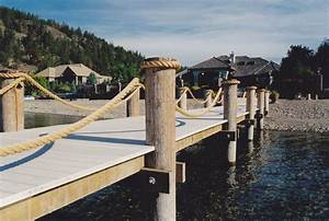 Rope Railing Shoreline Piledriving & Boat Lifts