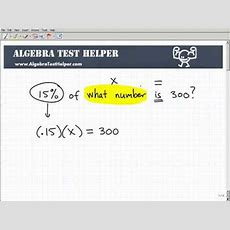 Learn How To Solve Percent Problems Youtube