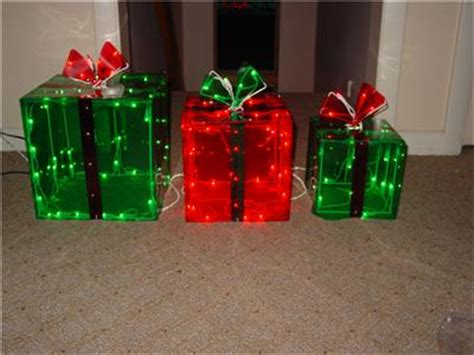 3 lighted gift boxes decoration yard decor 150