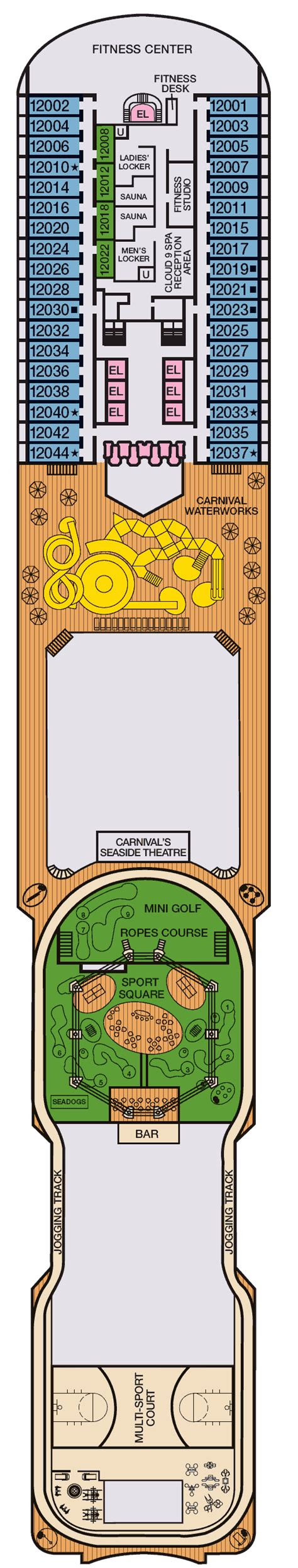 Carnival Magic Deck Plans
