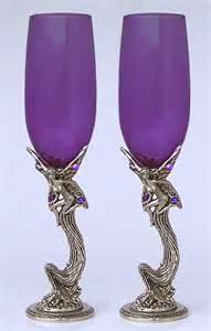 Purple Wedding Toasting Glasses