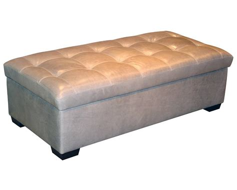 Leather Ottoman by Classic Leather Storage Ottoman 6065 So Leather