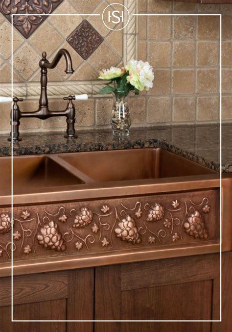 italian sinks for kitchens 36 quot tuscan series copper farmhouse sink copper farmhouse 4878