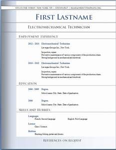 resume templates word CVS