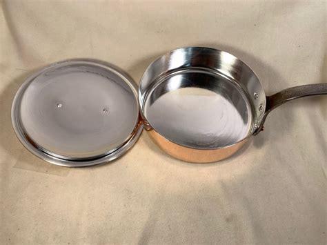 mm   diameter mauviel french copper saute pan  lid rocky mountain retinning