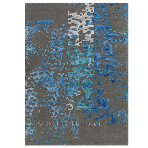 tapis de luxe gris souris  bleu en laine de nouvelle