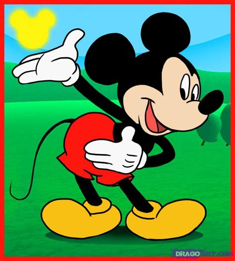 learn   draw mickey mouse disney characters
