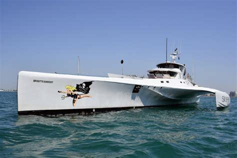 Trimaran Gojira by L Ong Sea Shepherd Reprend Sa Chasse Aux Filets Quot Fant 244 Mes
