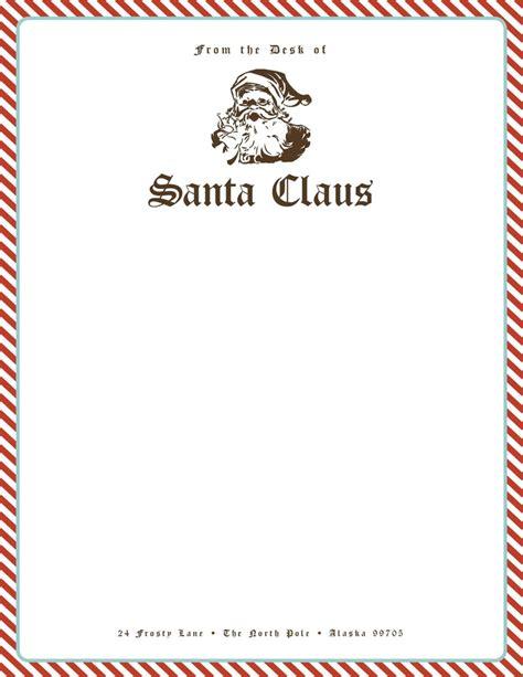 santa stationery give  kids