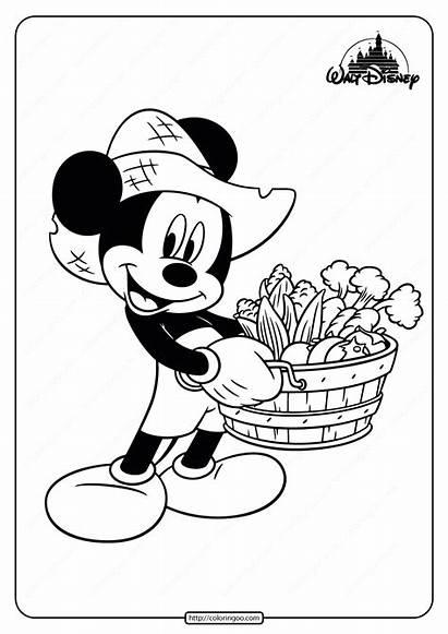 Mickey Coloring Mouse Farmer Printable
