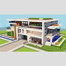 *new* Minecraft How To Build A Big Modern House Tutorial