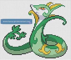 Serperior by Hama-Girl | Poke Pixel Art To do | Pinterest ...