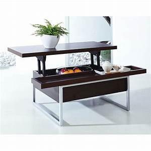 Table Basse Avec Plateau Relevable : acheter table basse pas cher cuisine naturelle ~ Teatrodelosmanantiales.com Idées de Décoration