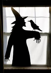 witch window silhouette flickr photo sharing With halloween window silhouettes template