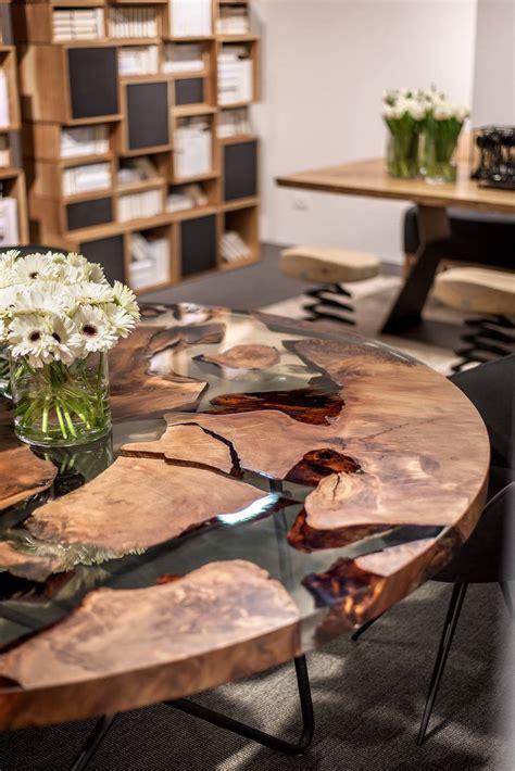 earth table une table en resine  bois de  ans