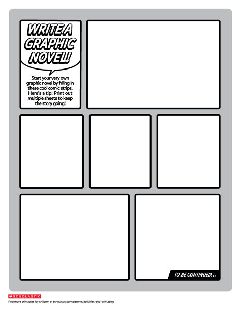 Create Your Own Graphic Novel Template | Worksheets ...