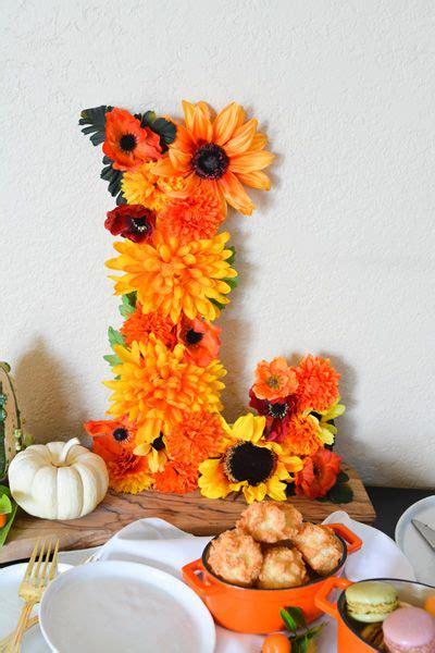 Baby Shower Fall Flower Monogram //babyshower com