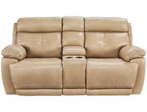 slumberland rhodes collection tan power reclining loveseat