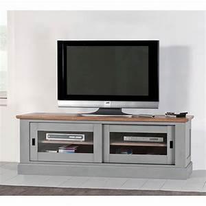 Grand Meuble Tv : grand meuble tv 2 portes coulissantes meubles rigaud ~ Teatrodelosmanantiales.com Idées de Décoration