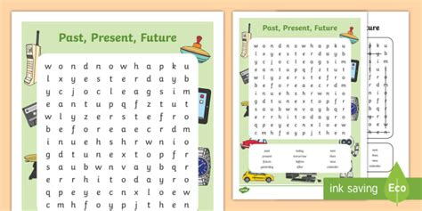* New * Past, Present, Future Word Search  Achassk029, History, Australian